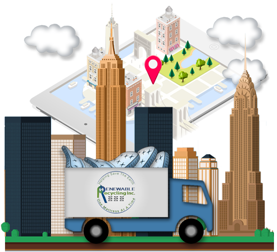 Start A Mattress Disposal & Recycling Pick Up Service - Renewable Recycling, Inc. Long Island, New York